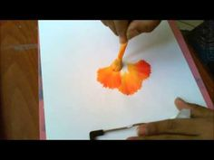 Acrylic Painting- Round Brush Magic, One Stroke Technique Decorative Florals - YouTube