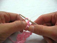 Punto Margarita (Parte I) a crochet, tutorial paso a paso - YouTube