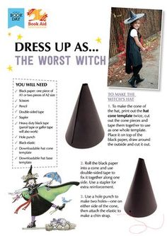 World Book Day what to wear - World Book Day – The Worst Witch - World Book Day Ideas, Day Book, Book Week, Book Characters Dress Up, Book Tokens, Great Costume Ideas, World Book Day Costumes, The Worst Witch, Book Sites