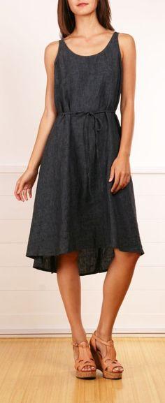 Cute denim dress.