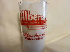 Albers Super Markets / Colonial Stores -- Measuring Glass #AlbersSuperMarkets