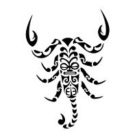 scorpion, waves, tiki, hei matau, fish hook, koru, spirals, life, death, danger, healing, water, fertility, love, encounter, protection