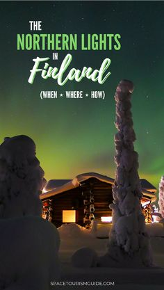 Want to see the Northern Lights? Head off the beaten track and visit Finland! Here's when, where, and how to see the Northern Lights in Finland and Lapland. #finland #northernlights #aurora #travel #spacetourism #stargazing
