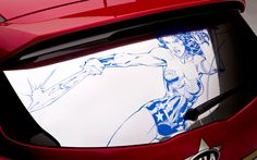 kia superhero cars wonder woman   Wonder-Woman-Kia-Sportage-back-window #347945 - MotorTrend WOT