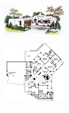 Southwestern House Plan Chp 49934 | House Plans | Pinterest | Southwestern  Style, Bedrooms And House
