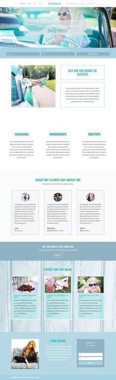 Inspired WordPress Blog Theme by Pretty Web Design on @creativemarket
