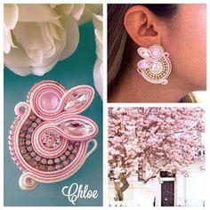 Veronique Creazioni Soutache Necklace, Tassel Earrings, Shibori, Button Crafts, Beaded Embroidery, Boho Jewelry, Jewerly, Hair Beauty, Beads