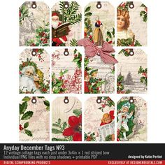 Anyday December Tags No. 03