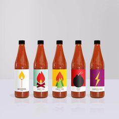 En la sección #YoAmoDiseño  Ilustraciones para identificar la intensidad de salsas picantes ideales para usar en alguna taquería de México.  Hugo's Hot Sauce es un autoproyecto de Jag Nagra que parte desde la idea del diseñador de crear una marca nueva de salsas picantes y el diseño de su packaging.  El resultado es una serie de botellas de salsas picantes que representan metafóricamente la intensidad de cada salsa a través de divertidas ilustraciones.  Si quieres ver mas de