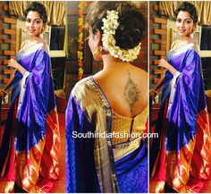 Amala Paul in a Traditional Saree – South India Fashion Hairstyles For Gowns, Saree Hairstyles, Indian Wedding Hairstyles, Bride Hairstyles, Hairdos, Updos, Bridal Hair Buns, Bridal Braids, Wedding Girl