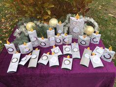 Advent, Design, Paper, Candles, Calendar, Decorating, Christmas, Silver
