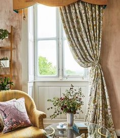 20 tips will help you improve the environment in your bedroom Potagerie fabric and it now coming in readymade curtains decoration salon decoration interieur maison Angel Strawbridge, Natural Curtains, Cream Curtains, Old Wallpaper, Custom Drapes, Curtain Designs, Art Deco Design, Comfort Zone, Curtains