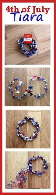 July Crafts that Everyone Will Love to Make DIYbunker : This Fourth of July tiara DIY is so CUTE! I love how easy it is to make too! Patriotic Crafts, Patriotic Party, July Crafts, Kids Crafts, Summer Crafts, 4th Of July Celebration, 4th Of July Party, Fourth Of July, 4. Juli Party