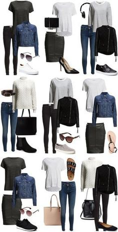 Hey, I think I own almost all of these things. So is my capsule wardrobe sorted? - Hey, I think I own almost all of these things. So is my capsule wardrobe sorted? 🤔 Source by - Capsule Outfits, Fashion Capsule, Mode Outfits, Capsule Wardrobe, Fall Outfits, Fashion Outfits, Womens Fashion, Summer Outfits, Dressy Outfits