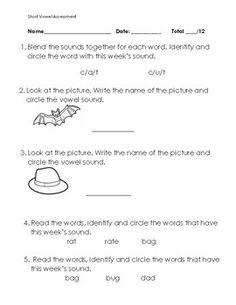 Worksheets Long And Short Vowel Worksheets long and short vowel worksheet activities phonics worksheets a e i o u assessments