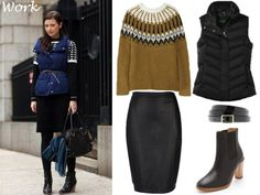with puffy vest. Puffy Vest, Vest Coat, Vogue, Classy And Fabulous, Fall Outfits, Style Me, Winter Fashion, Street Style, Style Inspiration