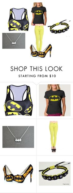 the bat symbol by alexalivar on Polyvore featuring women's clothing, women's fashion, women, female, woman, misses and juniors