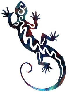 Lizard Tattoos Designs And Ideas : Page 71 Iguana Tattoo, Gecko Tattoo, Lizard Tattoo, Arte Tribal, Tribal Art, Cartoon Lizard, Tlingit, Sgraffito, Cover Tattoo