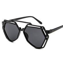 7 Colors Women Fashion Polygonal Hollow Sunglasses Brand Designer Luxury Sun Glasses For Men Women(China (Mainland))