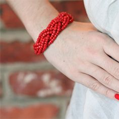 DIY bracelet from braided beads with inspiration from ECAB