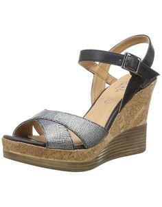 Initiale Carat, Sandales compensees femme: Amazon.fr: Chaussures et Sacs