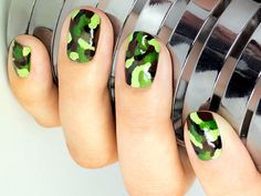 Camo nails. So cute!