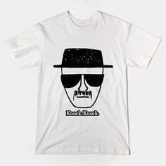 Knock. Knock.  Be the one who knocks!  New Breaking Bad t-shirts available in store!  #BreakingBad, #heisenberg, #tshirts, #tvshows,