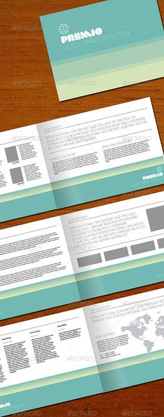 Premio 8-page brochure  #GraphicRiver              High Quality, Print Ready, Corporate Bruchure, Only Vector Graphics