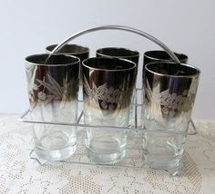 Mad Men Retro Glass Tumbler Set Silver Ombre Etsy.com/shop/collectique