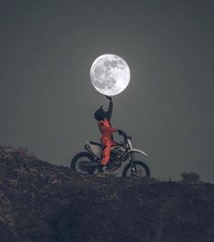 Photography - Moon - dirtbike - motocross