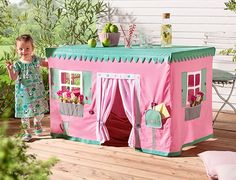 Tischdecke Spielhaus- Anleitung Buttinette (Diy Geschenke Garten)