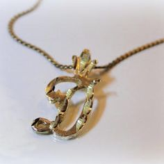 14k Letter D Pendant and necklace. All Vintage and GORGEOUS! Mother's Day is coming! Check out more jewelry here:  MyVtgJewelryShop at #Scott's #Marketplace