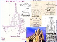 Vimana - diagrams - flying vehicles in ancient Indian texts -ufo - extraterrestrials - Hinduism - sanskrit