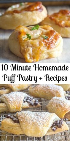 10 minute Homemade Puff Pastry + Recipes-Sweet & Savory 10 minute Homemade Puff Pastry + Recipes-Sweet & Savory,Puff pastry 10 Minute Homemade Puff pastry, fast and easy, flaky and buttery, better than store bought. Puff Pastry Recipes Savory, Easy Puff Pastry Recipe, Puff Pastry Appetizers, Puff Pastry Desserts, Gluten Free Puff Pastry, Puff Pastries, Choux Pastry, Puffed Pastry Recipes, Puff Pastry Tarts