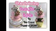 Ursa Bailarina - Porta jóia + Enfeite de Mesa - Biscuit - Passo a Passo ...