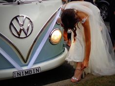 """164 Likes, 5 Comments - Byron Bay Wedding Kombi Hire  (@byronkombilimo) on Instagram: """"Little adjustments before the reception . @clairegallirby . .. . #beautiful #beautifulbride #bride…"""""""