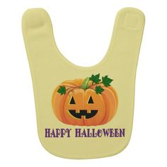 Happy Halloween Jack O'Lantern Bib - Halloween happyhalloween festival party holiday