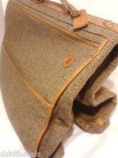 Vintage Hartmann Tweed Leather Travel Bag Garment In Brown