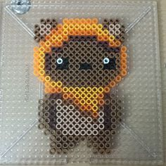 Kawaii Ewok perler beads by taralmartin