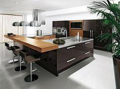 cocinas integrales modernas color chocolate - Buscar con Google