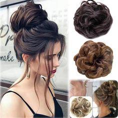 £1.35 GBP - Lady Bun Hairpiece,Elastic,Synthetic,Natural Look Hair Extension Hair Scrunchies #ebay #Fashion
