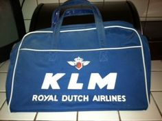 KLM Royal Dutch Airlines Bag. $40.00, via Etsy.