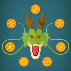 Shenron from Akira Toriyama's Dragon Ball manga, illustration by Brian Le Normand. — www.brianlenormand.com #design #illustration #illustrator #flatdesign #flat #graphicdesign #shenron #dragon #dragonball #akiratoriyama #akira #toriyama #manga #redesign #wish #vector #art #dragonballsuper #minimalism #dbs #dbz #db #graphism #graphic #character