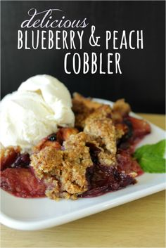 Peach cobbler is the quintessential summer dessert. This recipe livens things up with a blueberry twist.