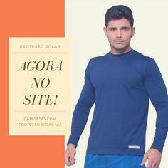 43dc0495e1 Camiseta Effect Masculina Manga Longa com Proteção Solar UV! Camiseta de  tecido leve de secagem
