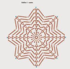 beautiful, beautiful, christmas center in crochet. View and share - Crochet Designs Free Crochet Snowflake Pattern, Crochet Stars, Crochet Circles, Crochet Snowflakes, Crochet Granny, Irish Crochet, Crochet Motif, Crochet Doilies, Crochet Flowers