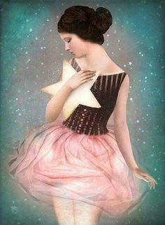 Wish Upon A Star Art Print by Christian Schloe Wish Upon A Star Stampa artistica di Christian Schloe Kunst Online, Art Asiatique, Max Ernst, Star Art, Magritte, Stephen Hawking, Whimsical Art, Surreal Art, Art Plastique