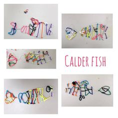 littles working on lots of skills with these #Calder inspired fish