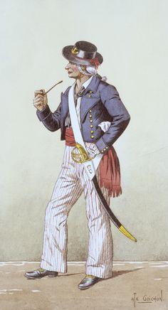 Matelot de la Revolution c1793 by Goichon