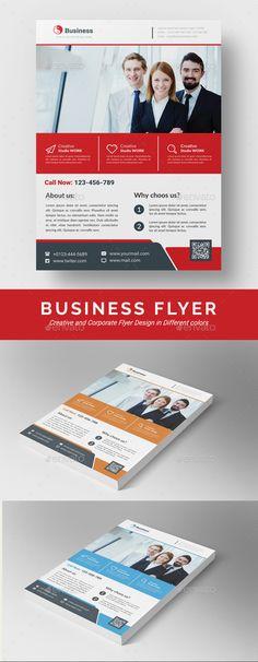 Business Flyer Template PSD, Vector EPS, AI Illustrator